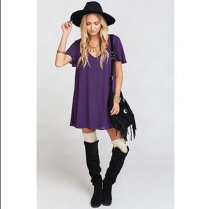 Show Me Your MuMu Purple Kylie Mini Dress